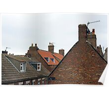 Whitby cottage roofs Poster