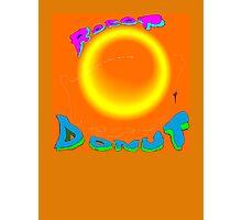 Robot Donut Digital Design - large Photographic Print