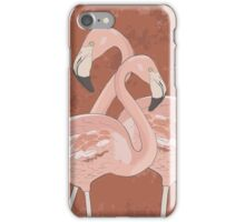 Artistic flamingos iPhone Case/Skin