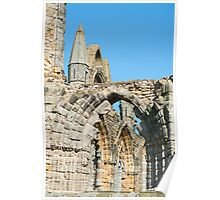 Whitby Abbey ruins Poster
