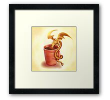 A drink for a dragon Framed Print
