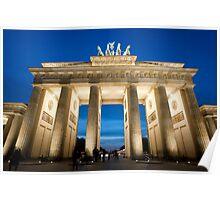 The Brandenburg Gate at night Poster