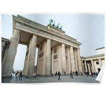 Daylight view of the Brandenburg Gate, Berlin Poster