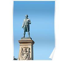 Captain Cook statue Poster