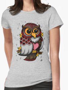 Owl Shirt Womens Fitted T-Shirt