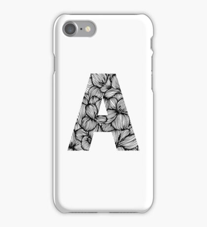 Floral letter A iPhone Case/Skin