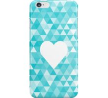 Heart on triangle background iPhone Case/Skin