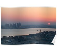Doha Sunset Poster