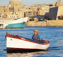 Fishing Boat - Malta by Mike Rivett