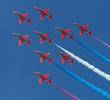 Red Arrows by Mike Rivett