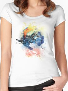 walk off colors Women's Fitted Scoop T-Shirt