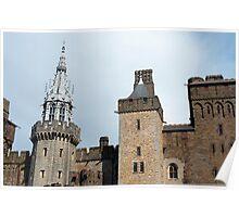 Exterior facade Cardiff Castle Poster