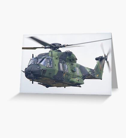 Finnish Army Helicopter Greeting Card