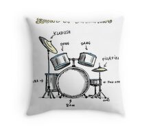 Sound of Drumming - Drumset Throw Pillow