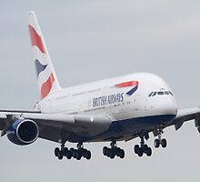 British Airways Airbus A380 by Mike Rivett