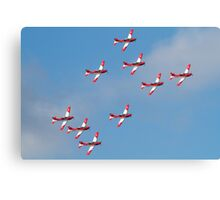 Swiss Air Force display team Canvas Print