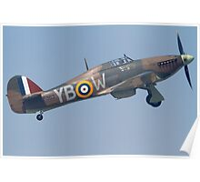 Hawker Hurricane Take off Poster