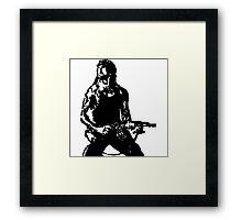 Rambo; First Blood Stencil Framed Print