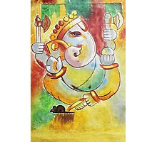 Ganesha painting modern art Ganesha Photographic Print