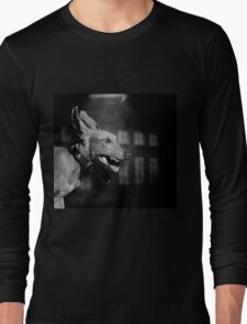 Dogs with game face on .27 Long Sleeve T-Shirt