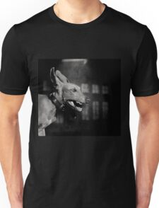Dogs with game face on .27 Unisex T-Shirt