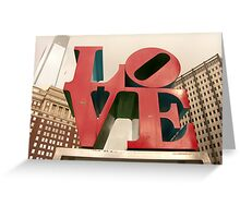 LOVE Park in Philadelphia Greeting Card