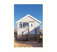 Sail away with me beach hut Art Print