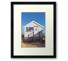 Sail away with me beach hut Framed Print