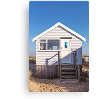 Sail away with me beach hut Canvas Print