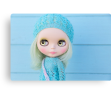 Blythe in pastel blues Canvas Print