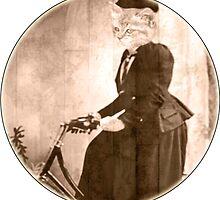 lady Cat on a bike round by Rob Hopper