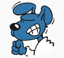 Blue Dog is angry Kids Clothes