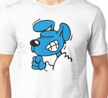 Blue Dog is angry Unisex T-Shirt