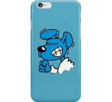 Blue Dog is angry iPhone Case/Skin