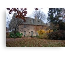 Historic House in the Fall Bartram's Garden Canvas Print
