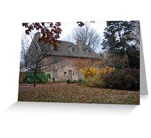 Historic House in the Fall Bartram's Garden Greeting Card