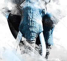 Elephant between clouds  by Vajtan Shanava
