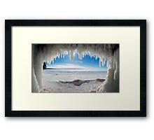 Jaws of Winter, Lake Superior Framed Print