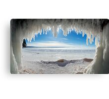 Jaws of Winter, Lake Superior Canvas Print