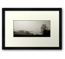 From Trelissick through the fog Framed Print