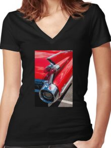 Cadillac tshirt Women's Fitted V-Neck T-Shirt