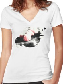 Cream is overrated Women's Fitted V-Neck T-Shirt