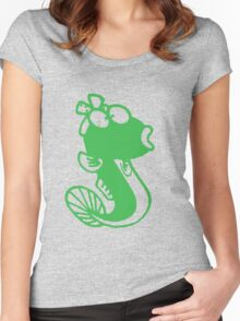 Female Cute Fish Women's Fitted Scoop T-Shirt