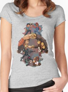Wreck it Ralph and Mario mash-up Women's Fitted Scoop T-Shirt