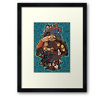 Wreck it Ralph and Mario mash-up Framed Print