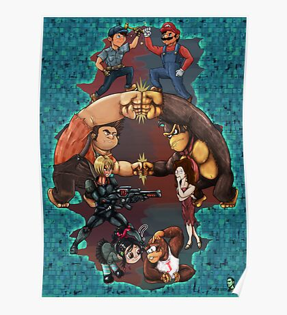 Wreck it Ralph and Mario mash-up Poster