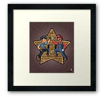 Stars of the games Framed Print