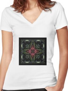 Night in the Garden - Shawl Women's Fitted V-Neck T-Shirt