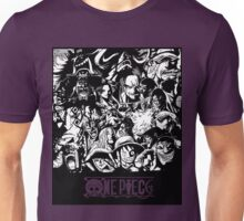ONE PIECE all characters (B&W) Unisex T-Shirt