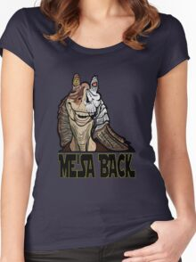 Me'sa Back Women's Fitted Scoop T-Shirt